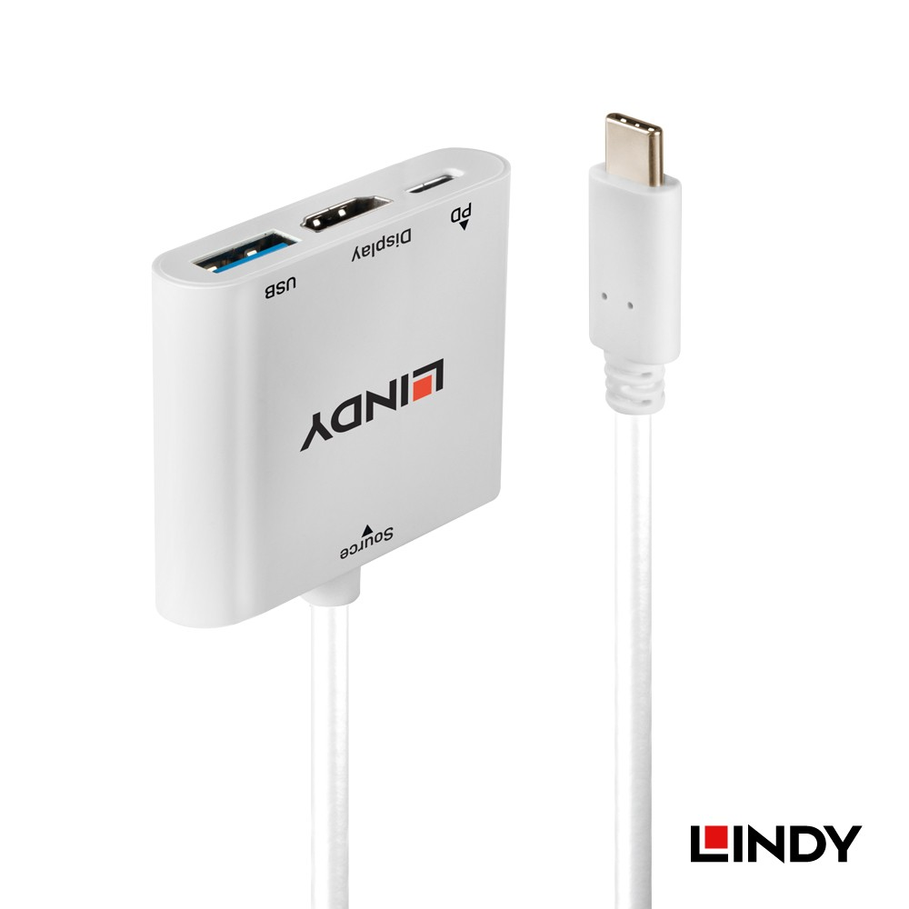 43274 - 主動式USB 3.1 Type-C to HDMI/HUB/PD 三合一轉接盒