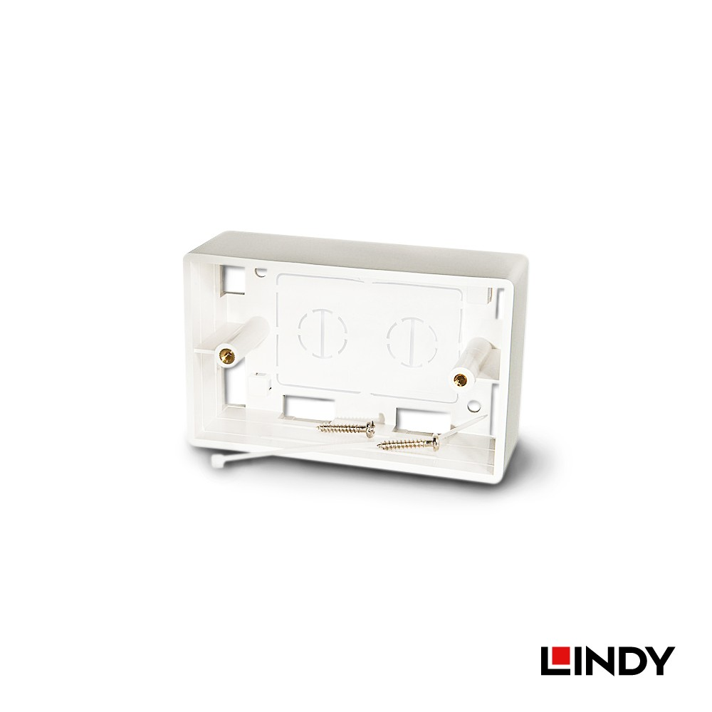 60548 - LINDY 美規接線盒(115.2 x 72 x 38 mm),白色