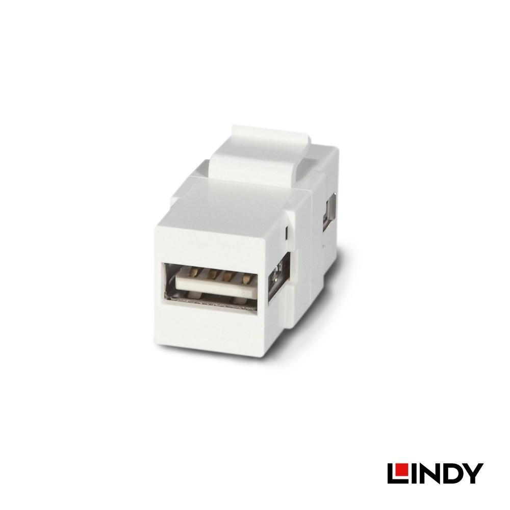 60553 - USB2.0 Type A/母 to Type A/母模組/模塊Keystone
