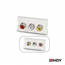 60532 -  3 x RCA/母(紅/白/黃) to 焊接端子模組/模塊Keystone